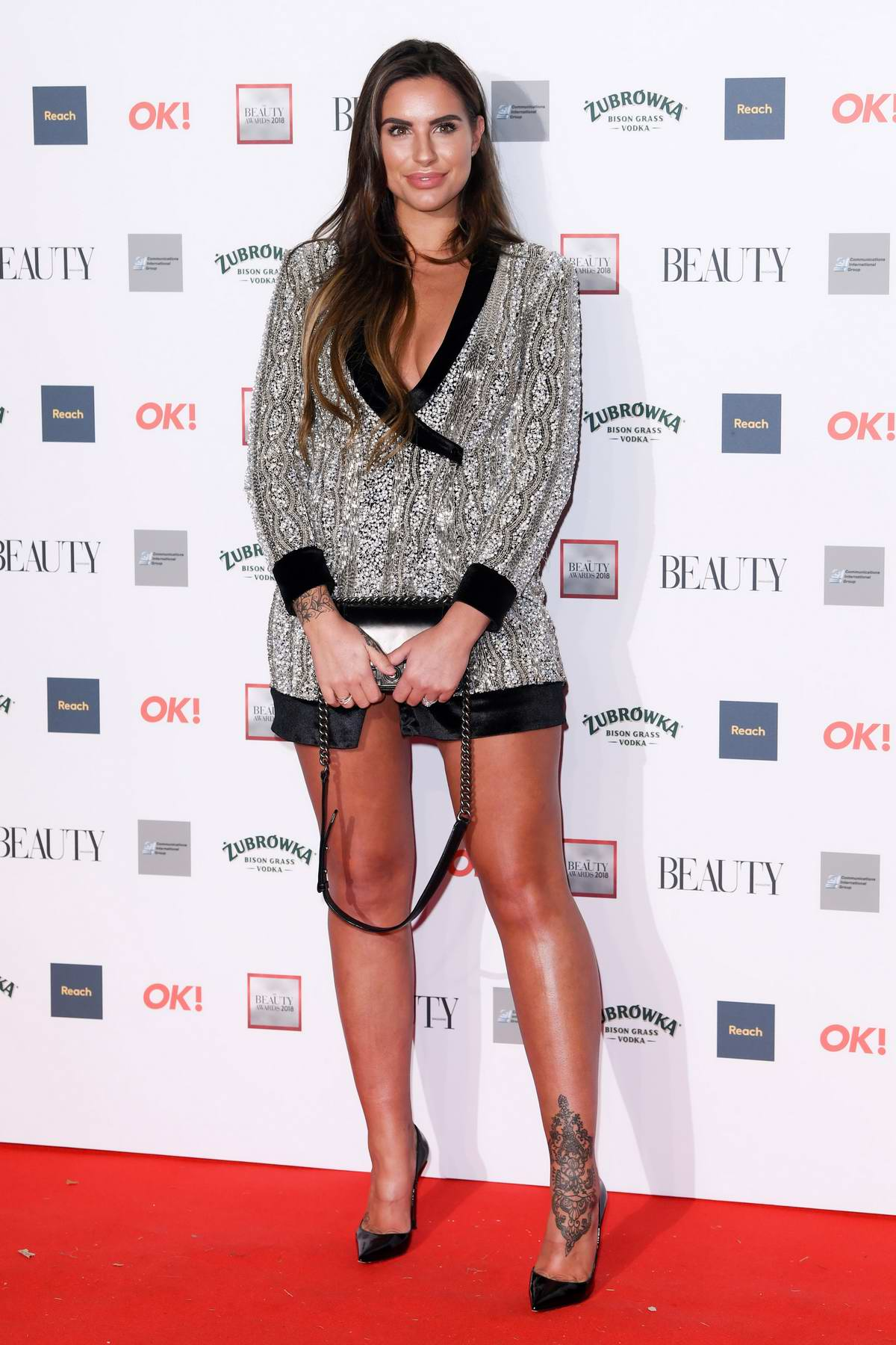 Jessica Shears attends the OK! Beauty Awards at Park Plaza Westminster Bridge in London, UK