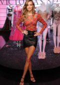 Josephine Skriver celebrates the 2018 Victoria's Secret Fashion Show at Victoria's Secret 5th Avenue Store in New York City