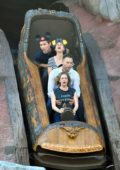 Kaley Cuoco and husband Karl Cook enjoy the rides while spending a day at Disneyland in Anaheim, California