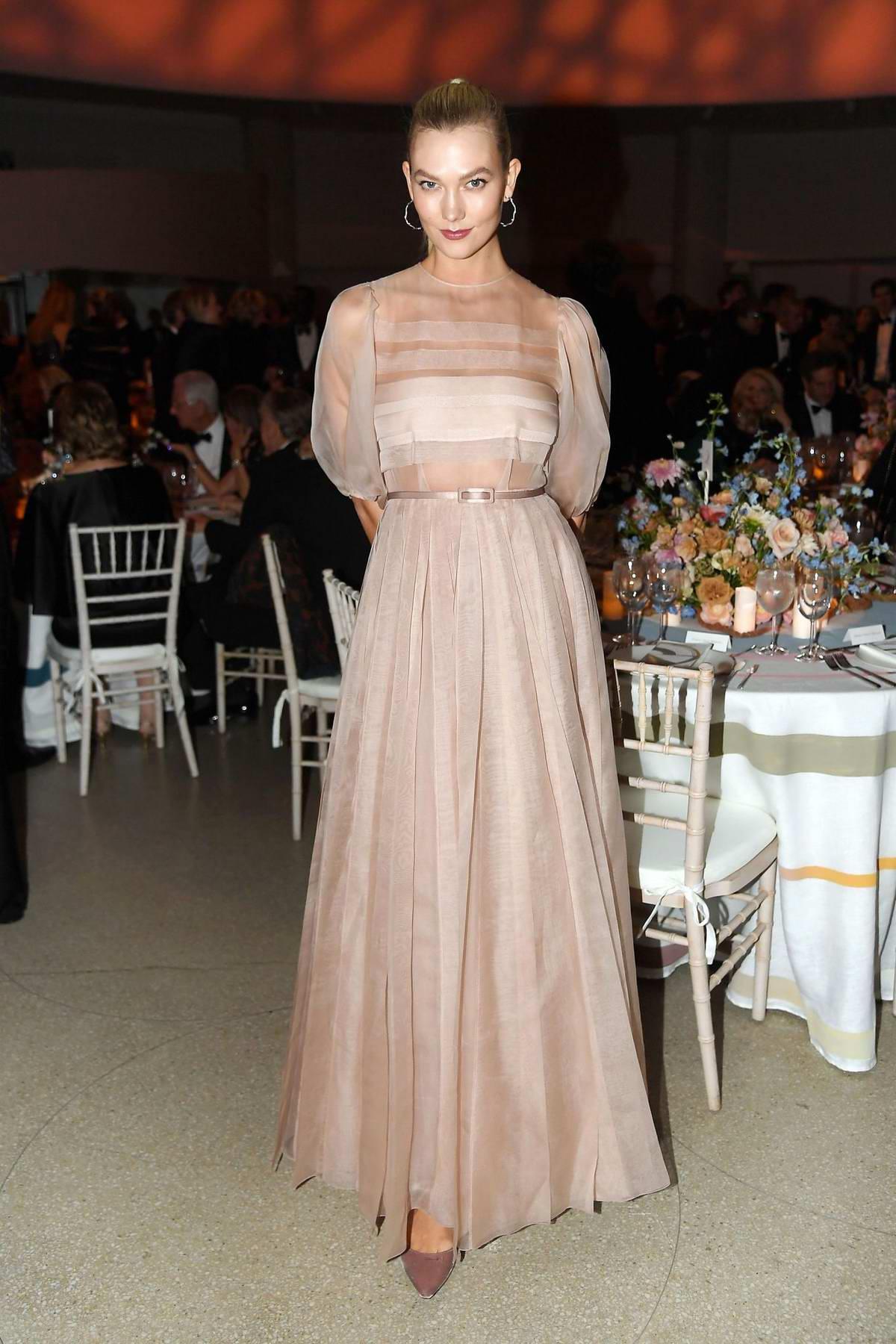Karlie Kloss attends Guggenheim International Gala Dinner Hosted by Dior in New York City