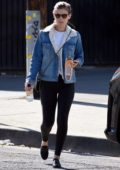 Kate Mara seen carrying her ballet sleepers as she leaves a Ballet Bodies in Los Angeles