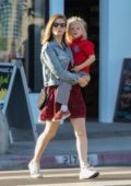 Kate Mara steps out with husband Jamie Bell's son as they enjoy some time together after school in Los Angeles