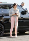 Katharine Mcphee keeps it stylish as she and David Foster head to Il Pastaio in Beverly Hills, Los Angeles