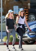 Katherine Schwarzenegger is all smiles as she steps out with a friend in Los Angeles