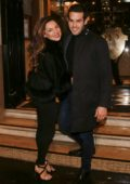 Kelly Brook celebrates her birthday with Jeremy Parisi at Lapérouse restaurant in Paris, France