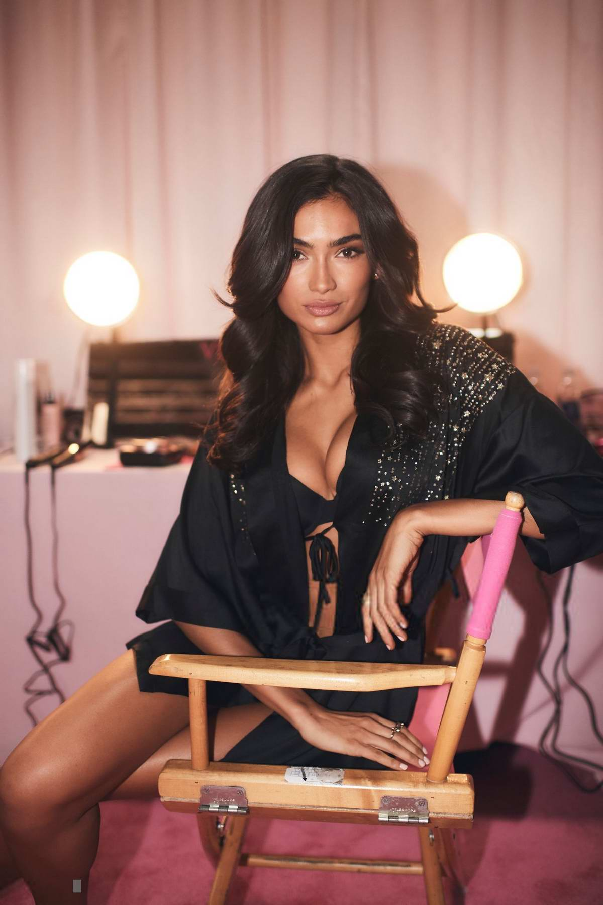 Kelly Gale seen backstage during the 2018 Victoria's Secret Fashion Show in New York City