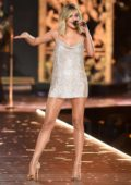 Kelsea Ballerini performs during the 2018 Victoria's Secret Fashion Show at Pier 94 in New York City