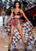 Kendall Jenner walks the runway during the 2018 Victoria's Secret Fashion Show at Pier 94 in New York City