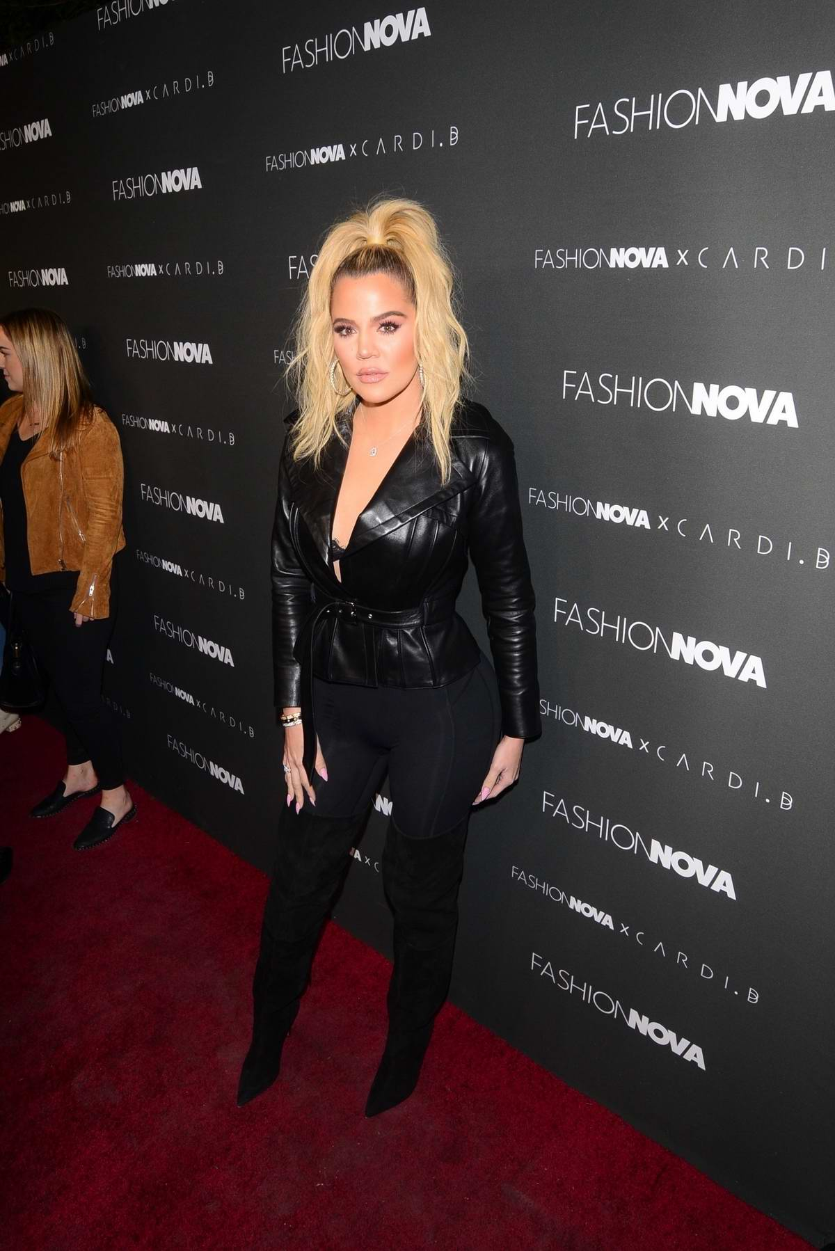 Khloe Kardashian attends Fashion Nova x Cardi B Event at Boulevard 3 in Hollywood, California