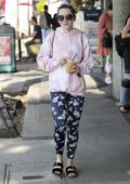 Kiernan Shipka looks cute in a pink hoodie as she steps out for coffee in Los Angeles