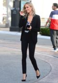 Kristin Cavallari looks great in a black suit at the Uncommon James pop up shop in West Hollywood, Los Angeles