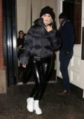 Kylie Jenner bundles up as she heads for a night out in New York City
