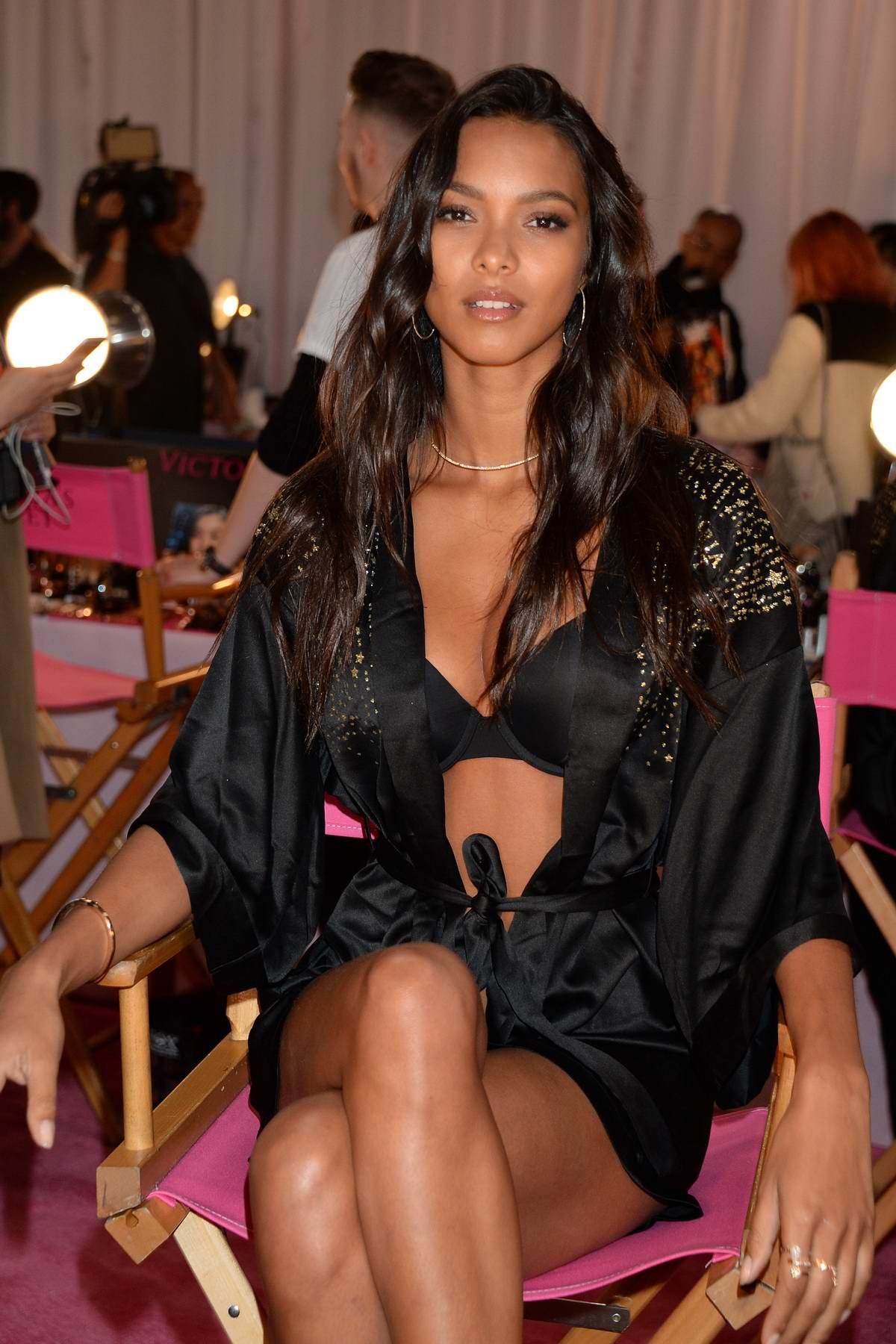 Lais Ribeiro seen backstage during the 2018 Victoria's Secret Fashion Show in New York City