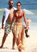 Lais Ribeiro spotted in a red bikini while enjoying her Thanksgiving vacation on Ipanema beach, Brazil
