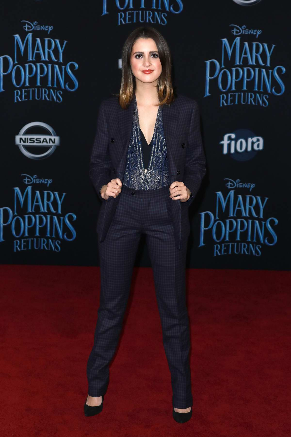 Laura Marano attends the World Premiere of Disney's 'Mary Poppins Returns' at Dolby Theatre in Hollywood, California