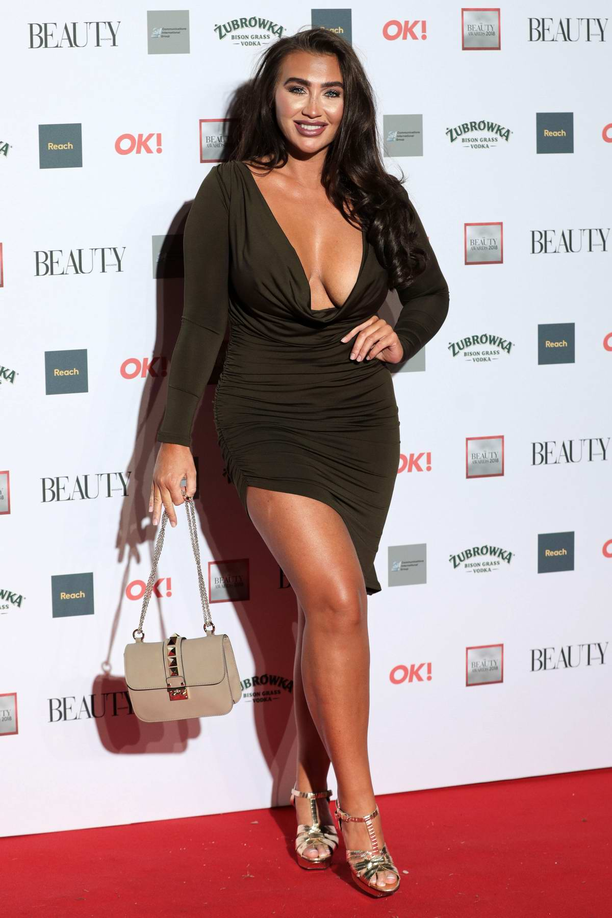 Lauren Goodger attends the OK! Beauty Awards at Park Plaza Westminster Bridge in London, UK