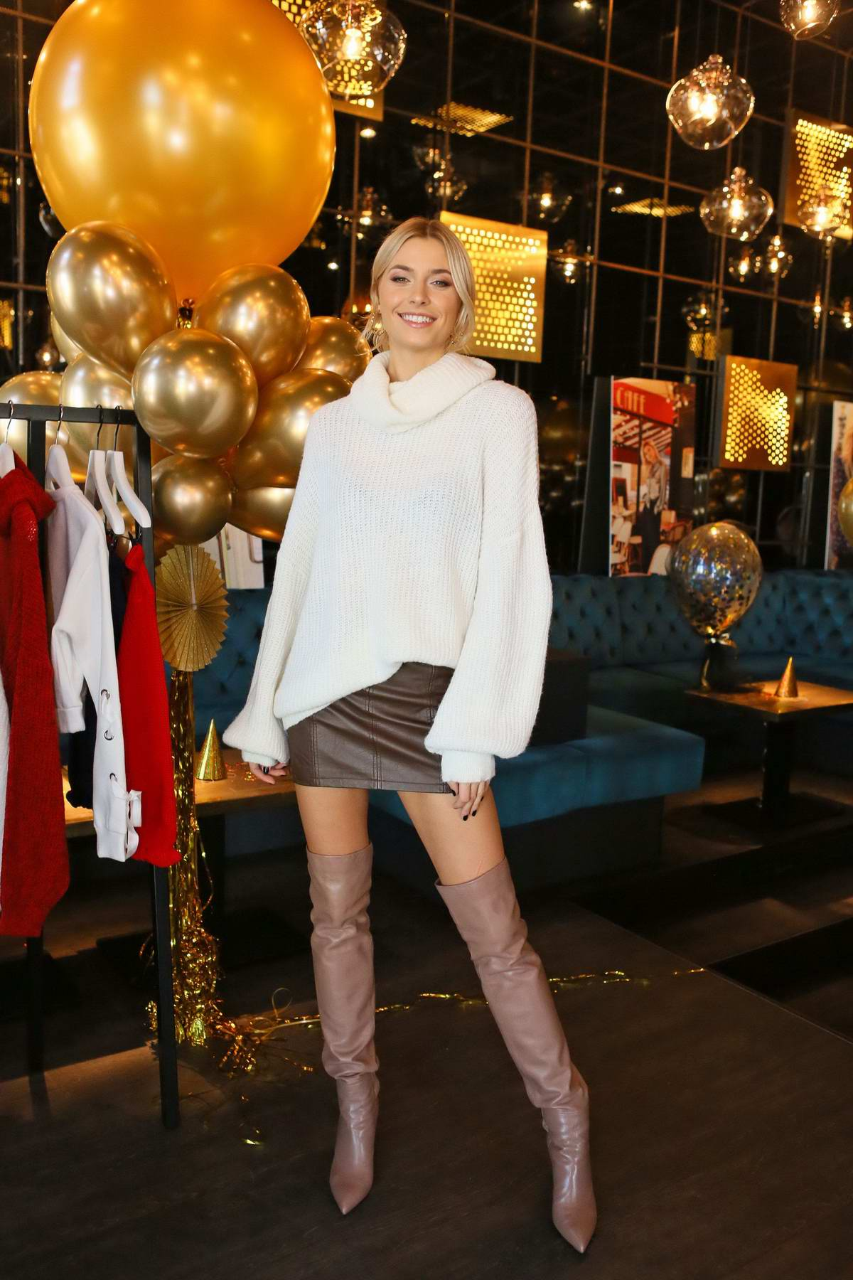Lena Gercke attends the Festive Collection Presentation in Hamburg, Germany
