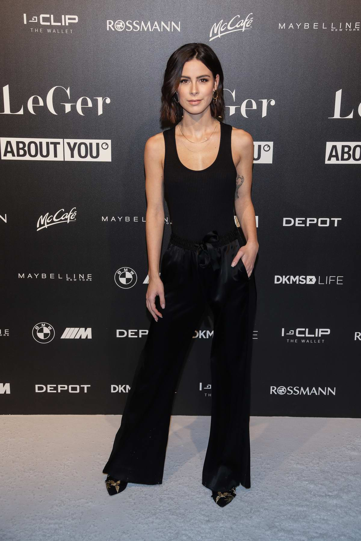 Lena Meyer-Landrut attends Lena Gercke's Christmas Dinner Party in Hamburg, Germany