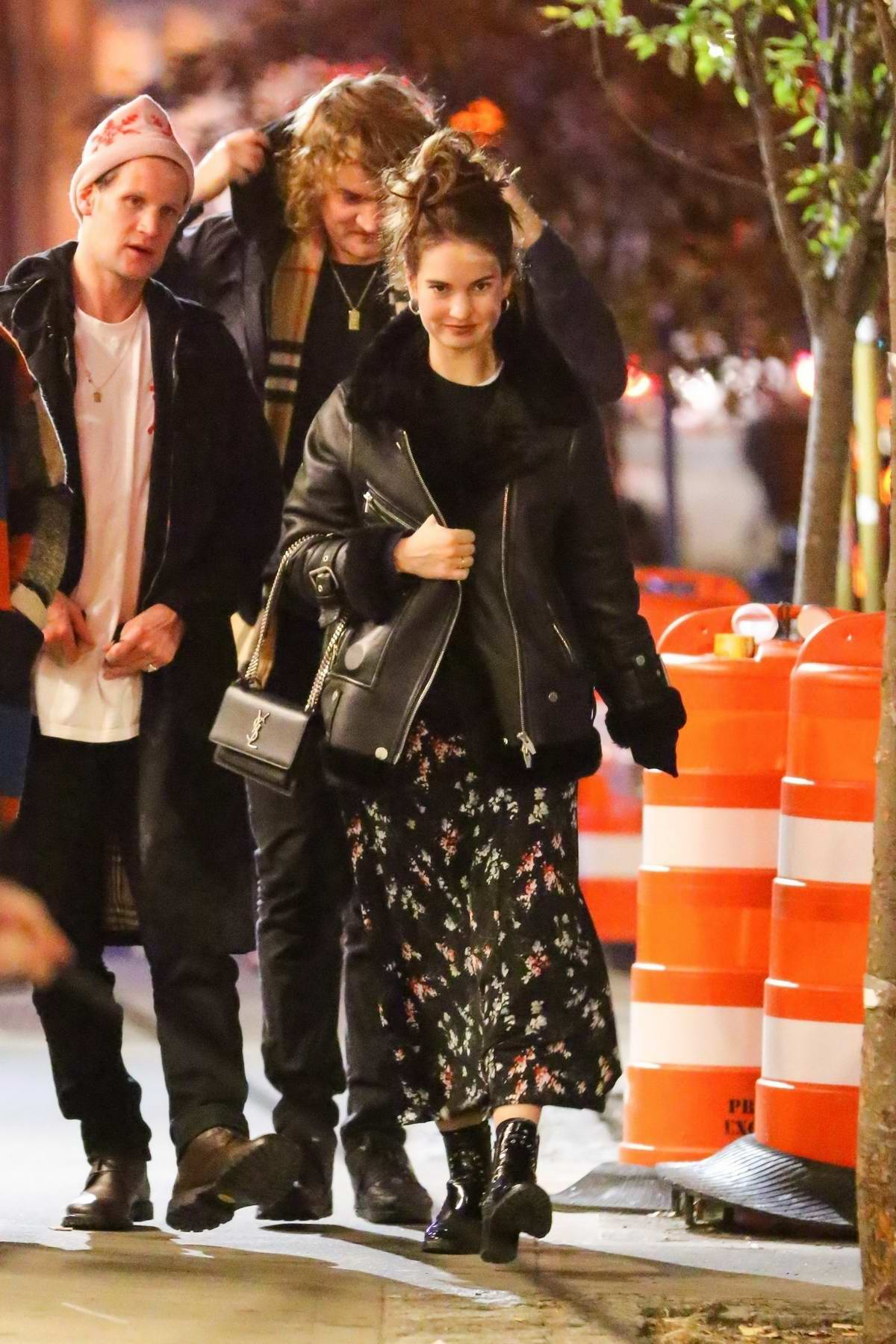 Lily James and Matt Smith grabs dinner with friends at Emilio's Ballato restaurant in New York City