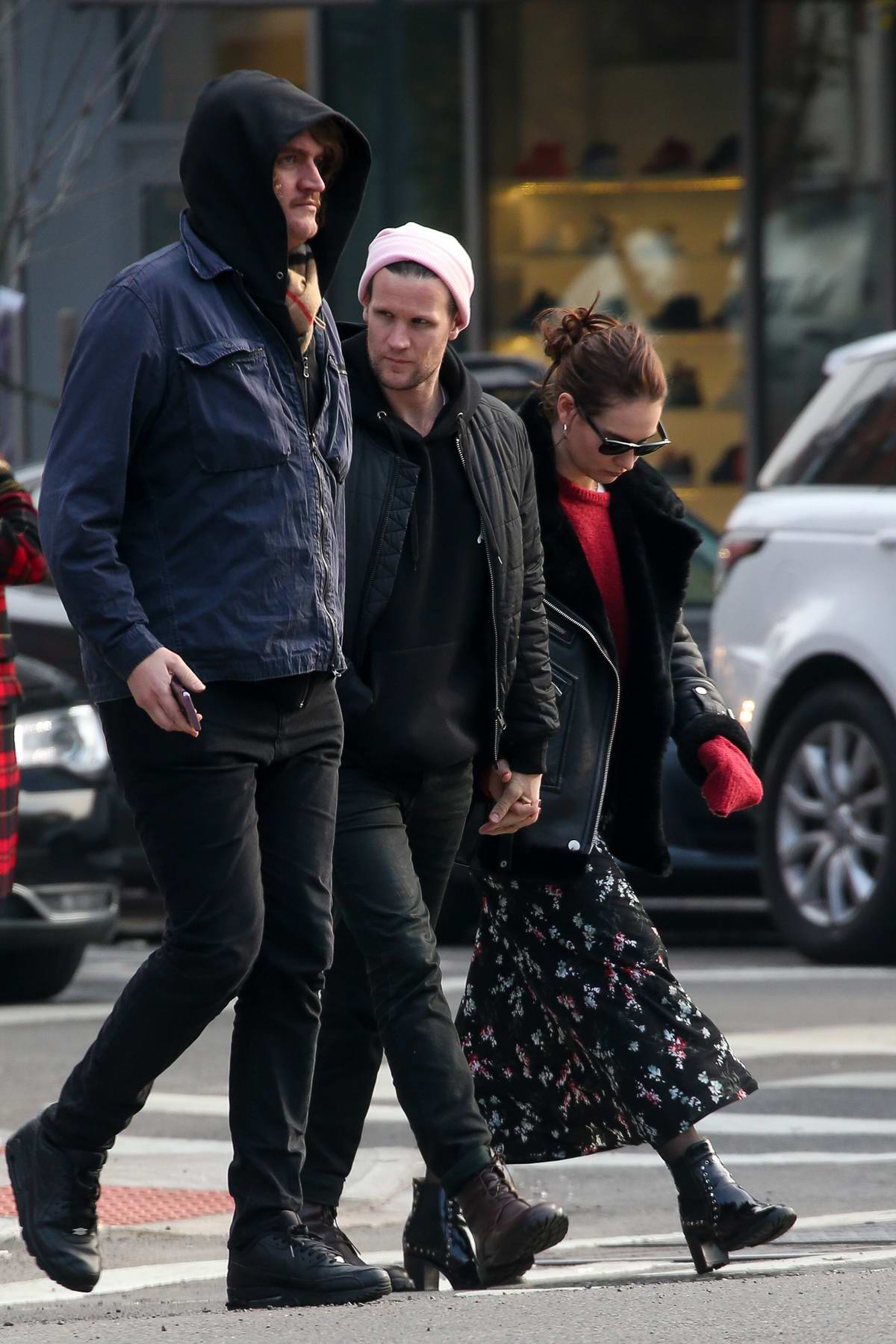 Lily James and Matt Smith stepped out for a stroll in New York City