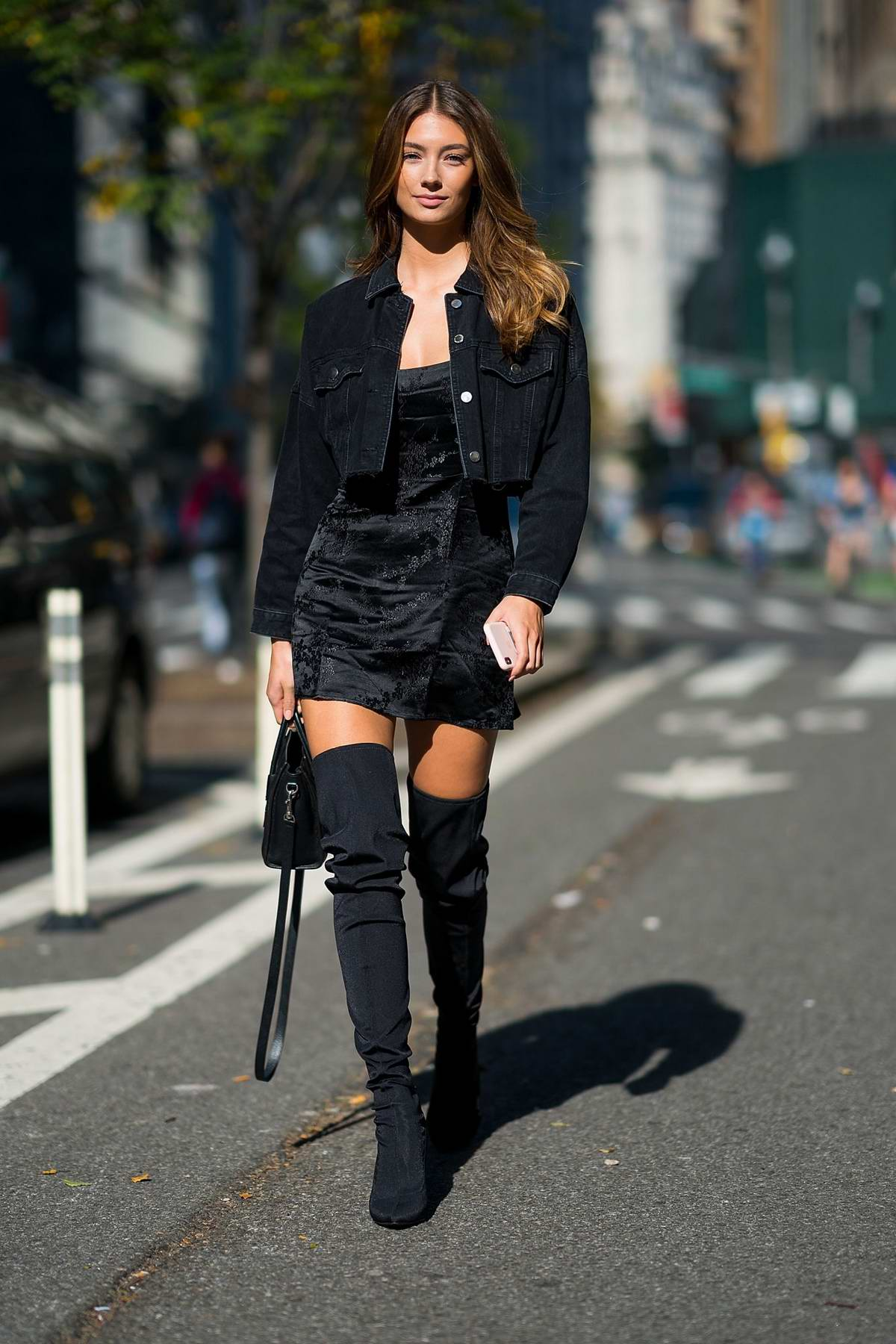 Lorena Rae attends fittings for the Victoria's Secret Fashion Show in Midtown, New York City