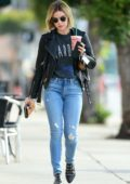 Lucy Hale sports her new blonde look as she steps out for Coffee in Los Angeles
