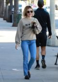 Lucy Hale stops at Starbucks to pick up an iced coffee while out in Studio City, Los Angeles
