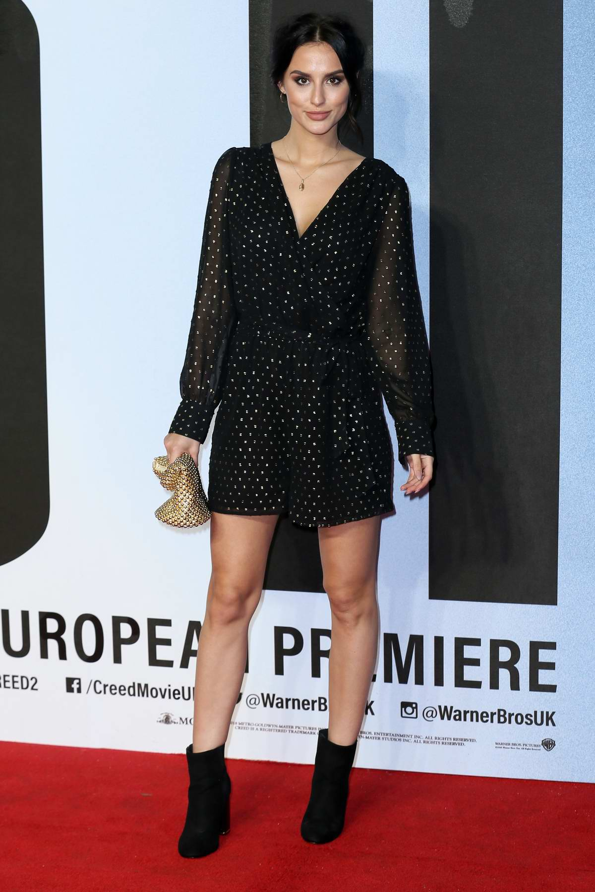 Lucy Watson attends the European Premiere of 'Creed II' at the BFI IMAX in London, UK