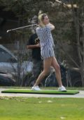 Margot Robbie enjoys a round of golf with husband Tom Ackerley and friends in Los Angeles