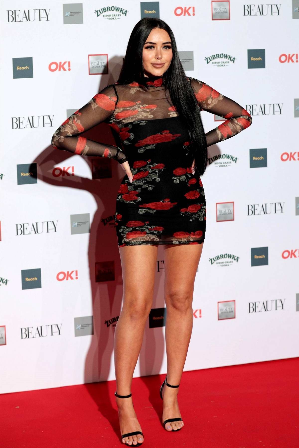 Marnie Simpson attends the OK! Beauty Awards at Park Plaza Westminster Bridge in London, UK