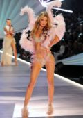 Martha Hunt walks the runway during the 2018 Victoria's Secret Fashion Show at Pier 94 in New York City