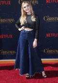 Meg Donnelly attends Netflix's 'The Christmas Chronicles' Premiere at Fox Bruin Theater in Los Angeles