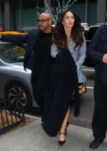 Megan Fox looks chic in a short blue dress as she steps out in New York City