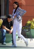 Michelle Rodriguez heads into a doctor's appointment in Beverly Hills, Los Angeles