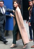 Minka Kelly arrives to promote 'Titans' on Good Morning America in New York City