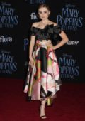 Meg Donnelly attends the World Premiere of Disney's 'Mary Poppins Returns' at Dolby Theatre in Hollywood, California