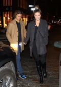 Nina Agdal and Jack Brinkley-Cook seen while enjoying a romantic date night at Lure in New York City