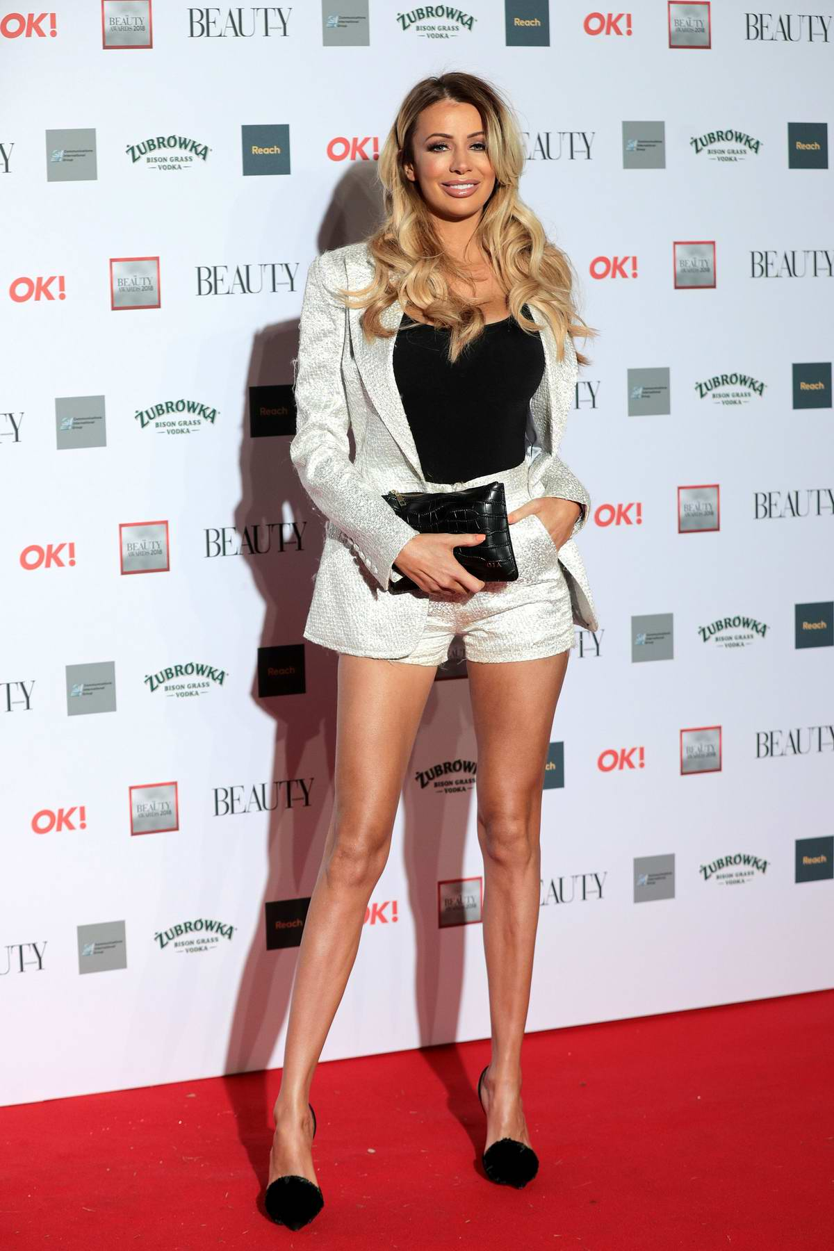 Olivia Attwood attends the OK! Beauty Awards at Park Plaza Westminster Bridge in London, UK