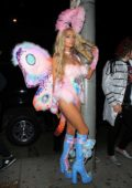 Paris Hilton at Mathew Morrison's Halloween bash at Peppermint nightclub in Los Angeles