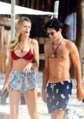 Petra Nemcova enjoys a romantic day at the beach with her boyfriend while on holiday in Tulum, Mexico