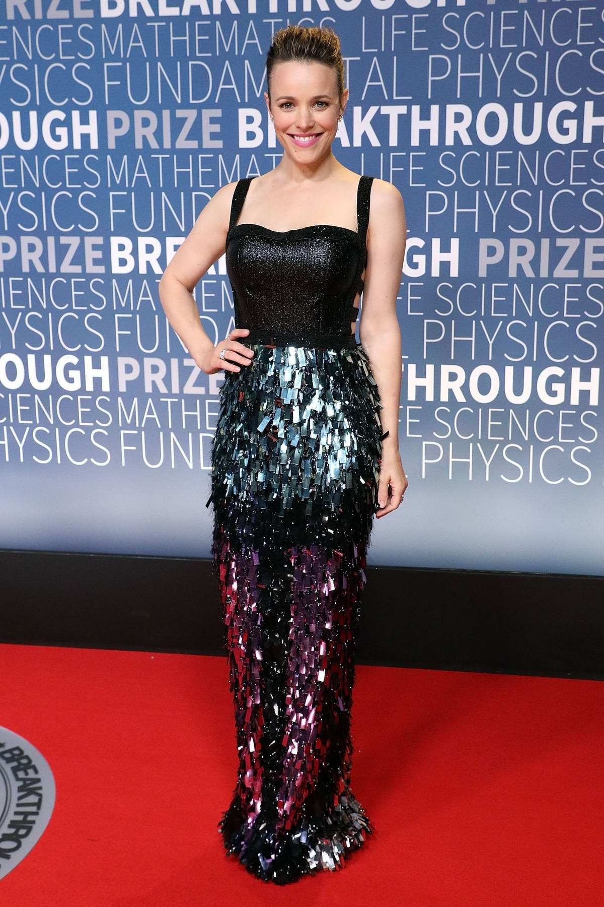 Rachel McAdams attends the 7th Annual Breakthrough Prize Ceremony at NASA Ames Research Center in Mountain View, California
