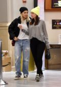 Rita Ora keeps it casual while heading to the movies with her friends in Los Angeles