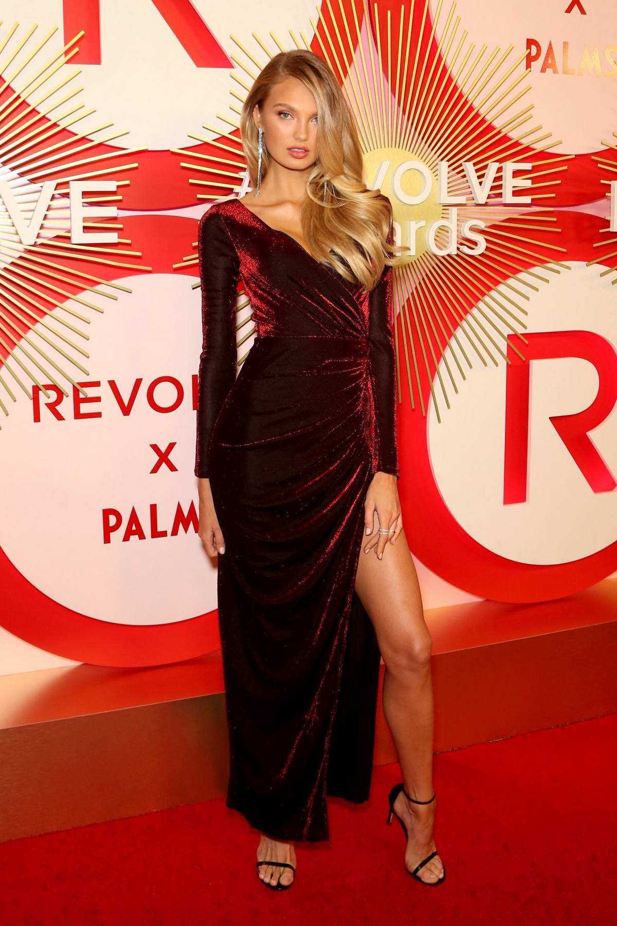 Romee Strijd attends Revolve's Second Annual #REVOLVEawards at Palms Casino Resort in Las Vegas, Nevada