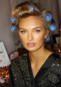 Romee Strijd seen backstage during the 2018 Victoria's Secret Fashion Show in New York City