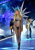 Romee Strijd walks the runway during the 2018 Victoria's Secret Fashion Show at Pier 94 in New York City