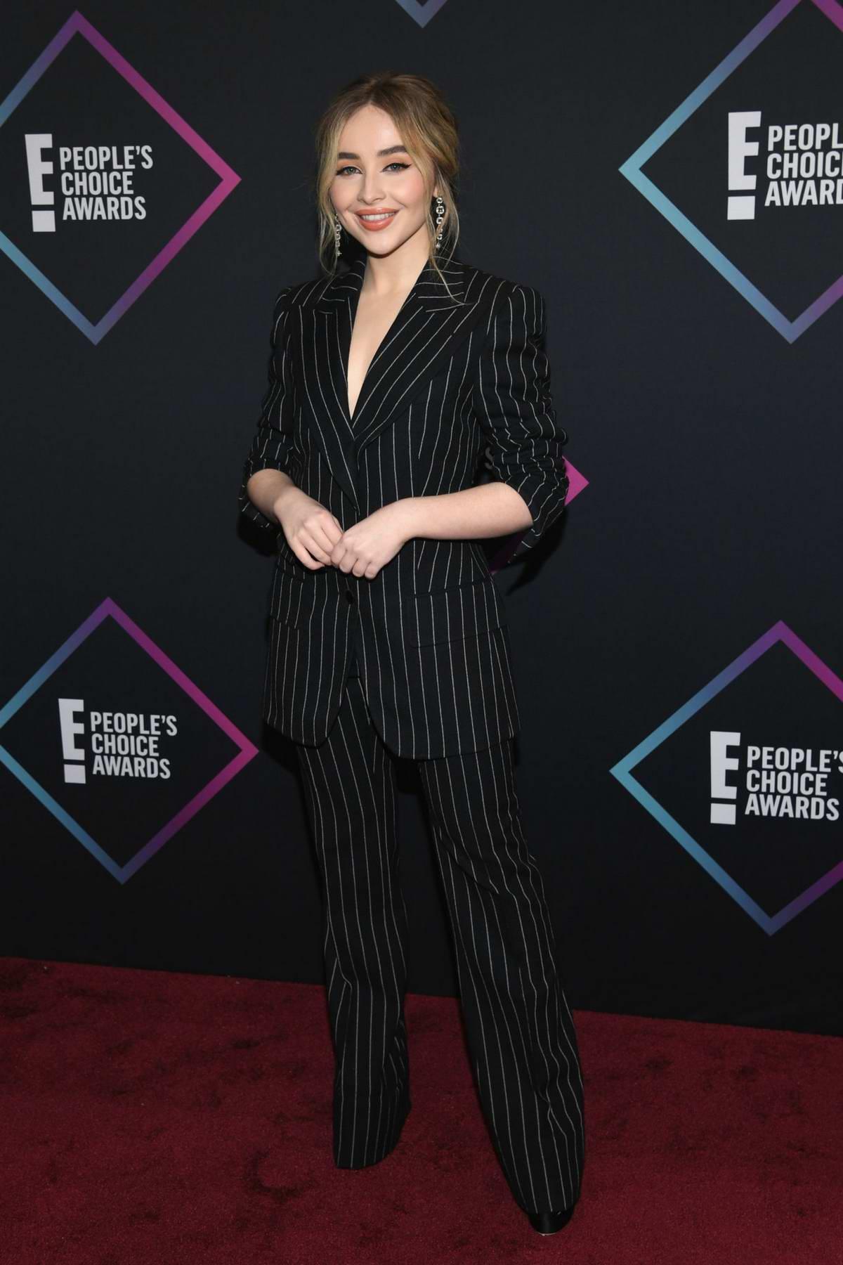 Sabrina Carpenter attends People's Choice Awards 2018 at Barker Hangar in Santa Monica, California