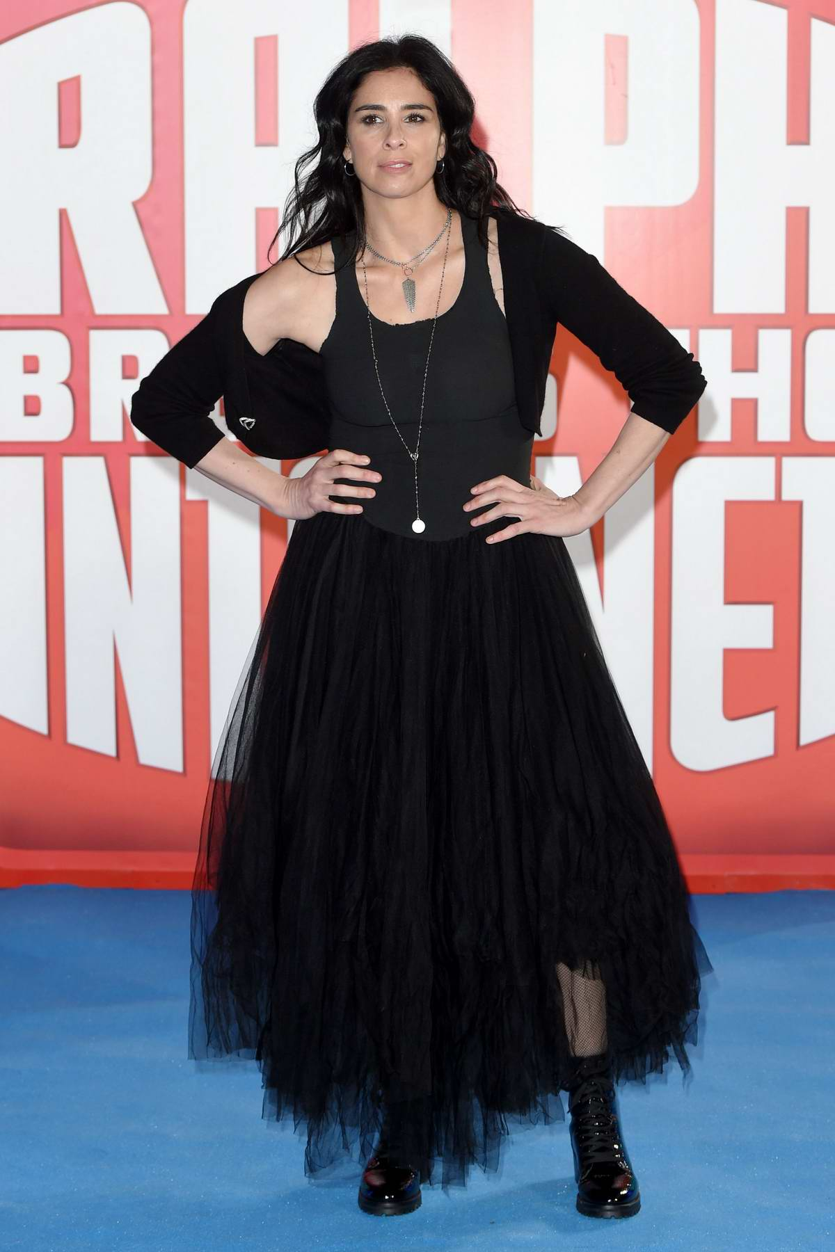 Sarah Silverman attends Premiere of 'Ralph Breaks The Internet' at Curzon Mayfair in London, UK