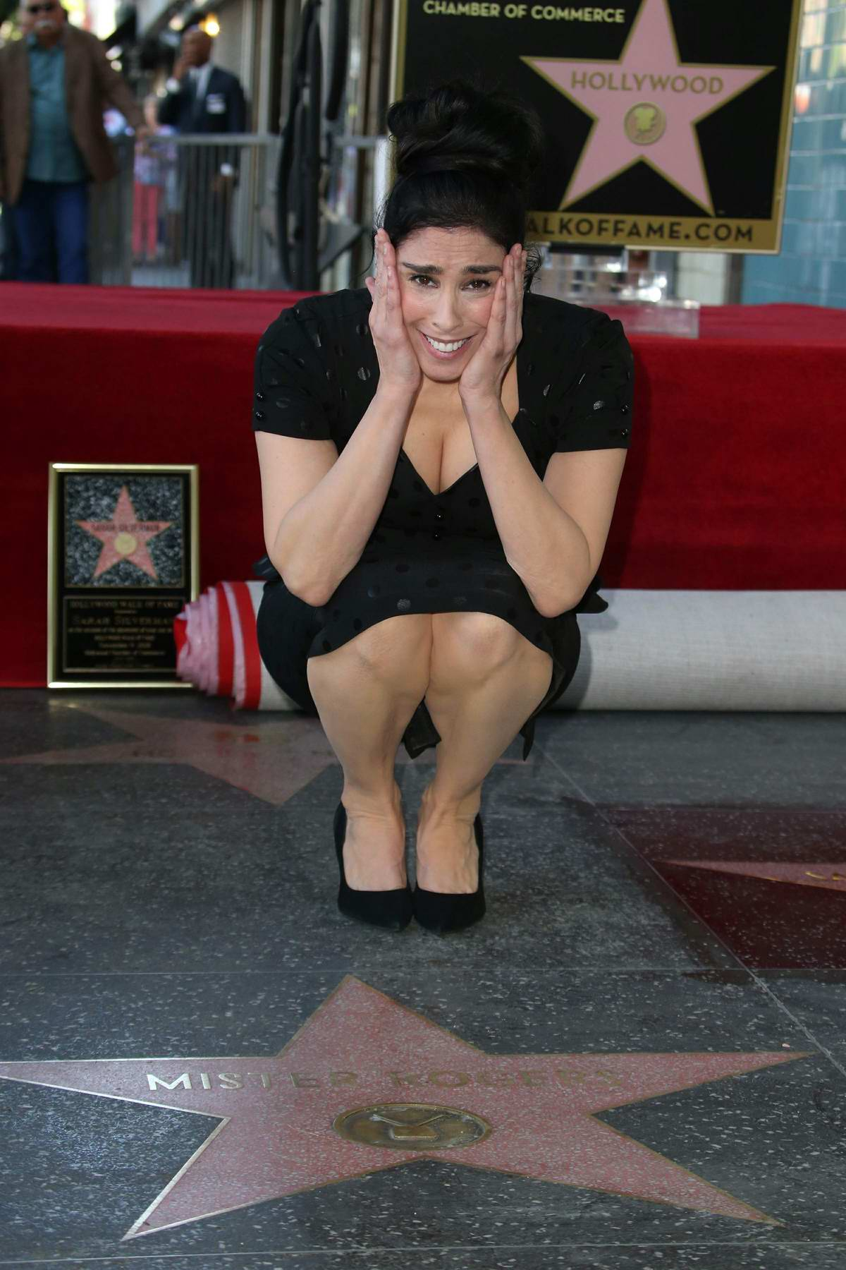 Sarah Silverman Honored With Star On The Hollywood Walk Of Fame in Los Angeles