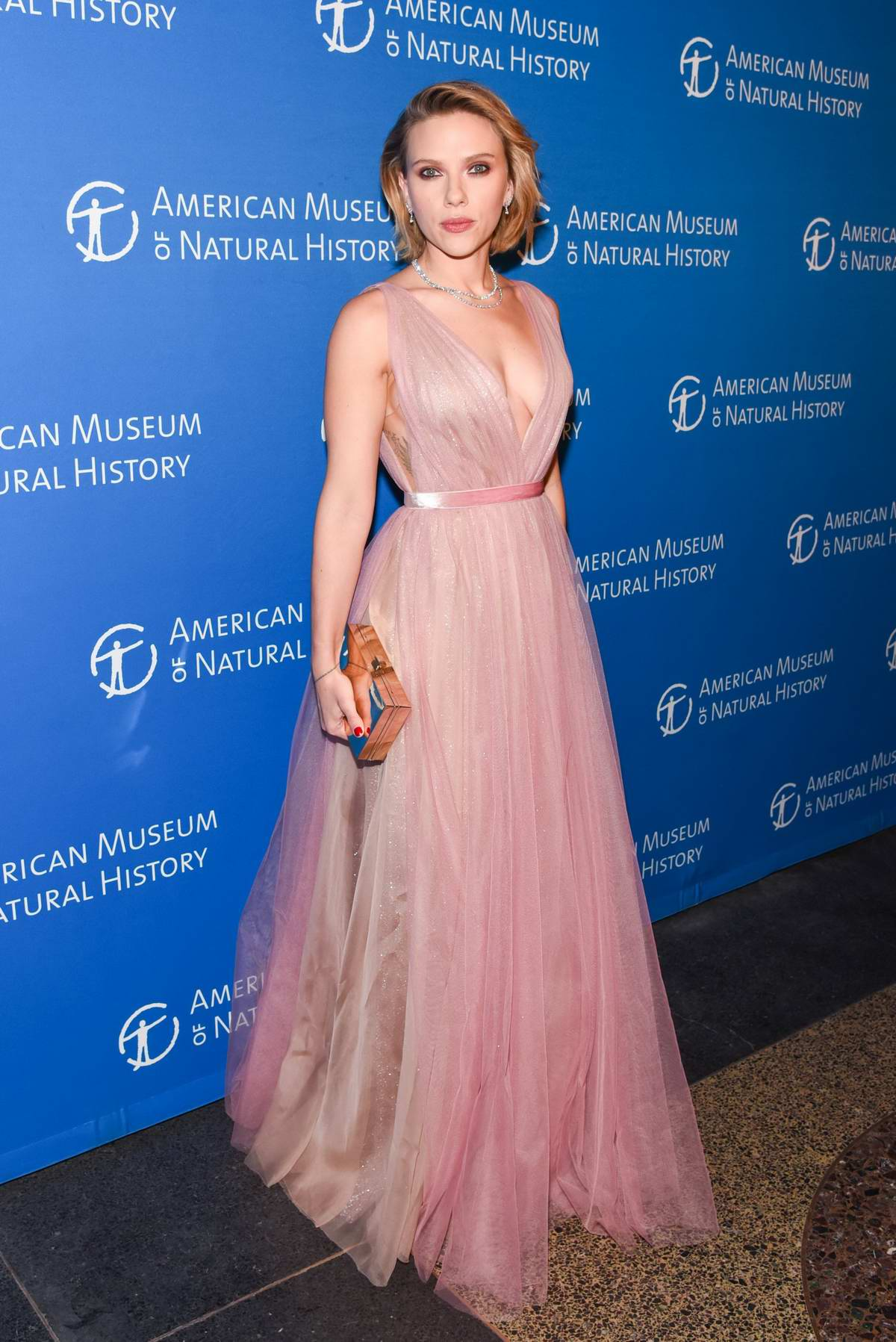 Scarlett Johansson and Colin Jost attend American Museum of Natural History Gala in New York City