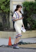 Shailene Woodley sports a baby bump on the set of the new untitled Drake Doremus movie in Los Angeles